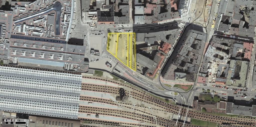 Lokalizacja nieruchomości przy ul. Młyńskiej, fot. UM Katowice