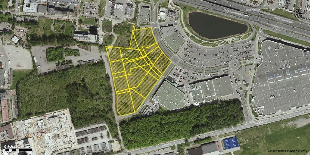 Lokalizacja nieruchomości wystawionej na sprzedaż przez West Side Invest, fot. UM Katowice
