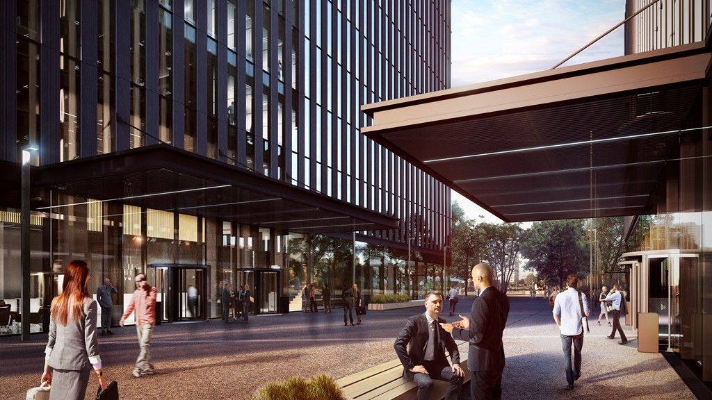 Wizualizacja kompleksu biurowego .KTW, fot. TDJ Estate
