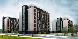 Wizualizacja zabudowy mieszkaniowej przy ul. Ściegiennego, dla której uzyskano pozwolenie na budowę, fot. Hollybrook