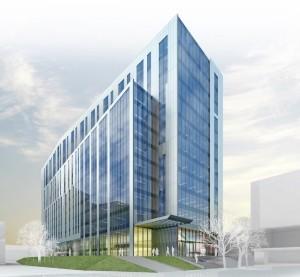 Wizualizacja zabudowy biurowej przy ul. Sokolskiej, którą planował Hollybrook, fot. Hollybrook