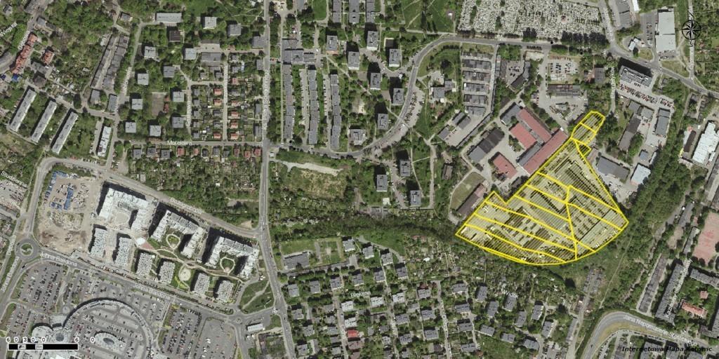 Lokalizacja terenów Elektromontażu, które w przetargu nabyła firma KPE Nieruchomości, fot. UM Katowice