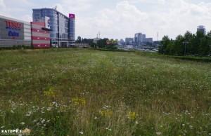 Nieruchomość Ghelamco u zbiegu ulic Chorzowskiej i Ściegiennego, z lewej Katowice Business Point