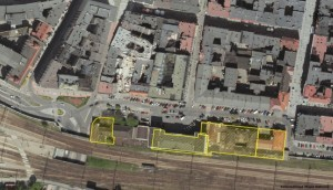 Budynki, które nabył Opal Maksimum, nieruchomość pod numerem 4 zaznaczona jako druga od prawej, fot. UM Katowice