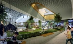 Wizualizacja ogrodu pod dachem, fot. Echo Investment